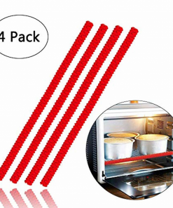 4 Pack Heat Resistant Silicone Oven Rack Cover 14 inches Long - lyndaskitchen